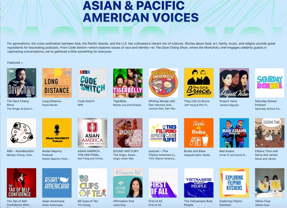 Apple Podcasts Celebrating Asian Heritage Month